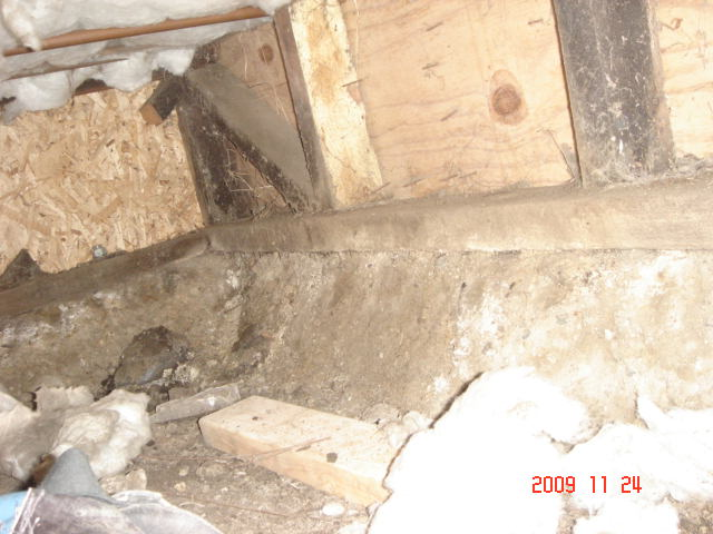Deteriorated Foundation